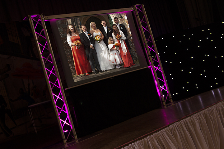 large screen photo/video projection